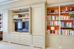 Bespoke entertainment center by NYC Millwork