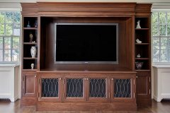 Custom Luxury entertainment center by NYC Millwork