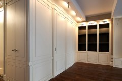 Bespoke woodworking entertainment center by NYC Millwork