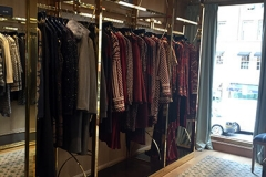 Interior view of retail clothing store NYC