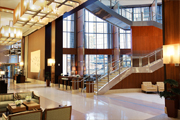 Hotel foyer designed, fabricated and installed by New York Custom Interior Millwork Corp
