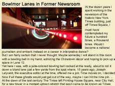 New York Times article regarding NYC millwork's project for Bowlmor Lanes