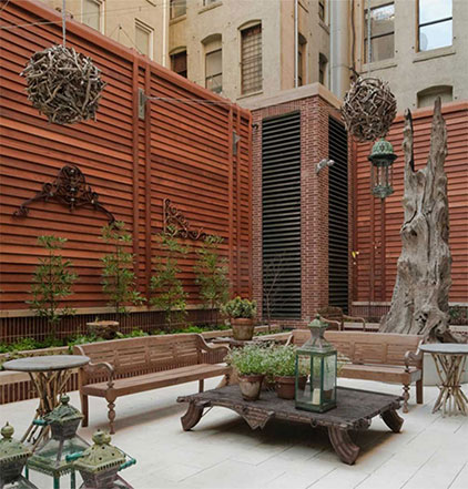 Exterior custom wood working by NYC Millwork