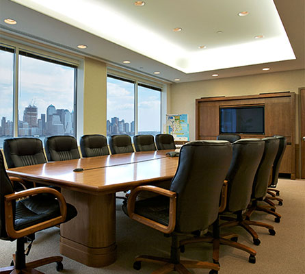 Conference room designed by New York Custom Interior Millwork